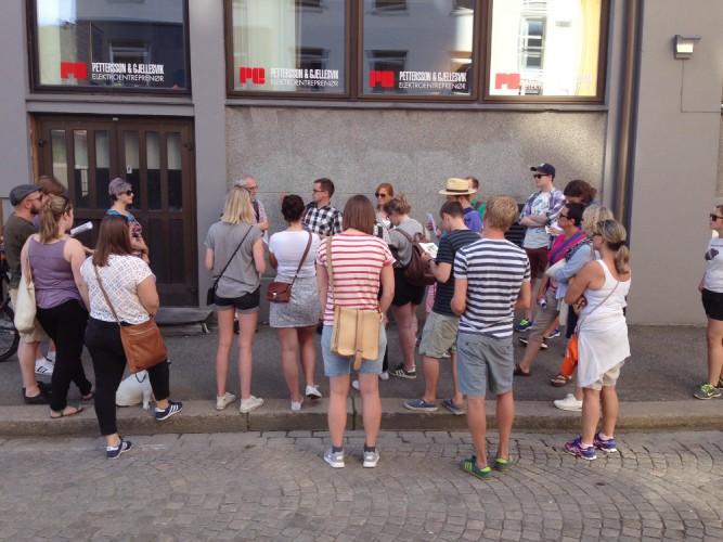Queer historical city walk during Bergen Pride