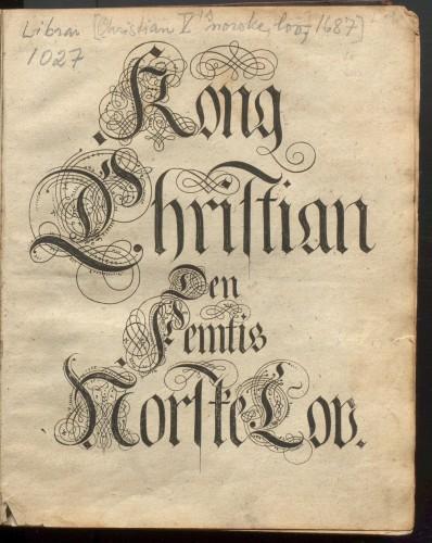 Faksimile av Kong Christian Den Femtis Norske Lov. Bilde: Manuskript- og librarsamlingen, Universitetsbiblioteket i Bergen