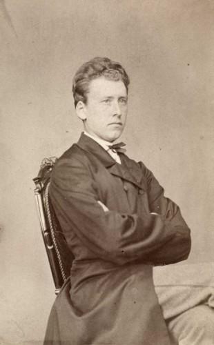 Ebbe Hertzberg, ca. 1880. Fotograf: Claus Peter Knudsen. Foto: oslobilder.no/Oslo Museum