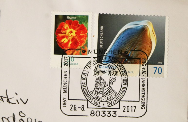 Bundespost ærar i år Ulrichs med eige poststempel i høve 150-årsmarkeringa.