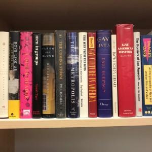 Et utvalg av bøkene fra Eiliv Høibakkens boksamling