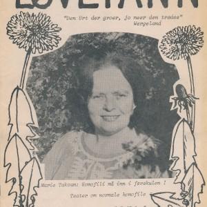 Forsiden av den første utgaven av Løvetann
