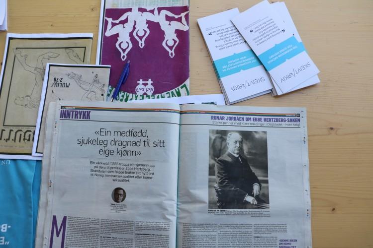 Skeivt arkiv formidler også skeiv historie gjennom artikler og mediebidrag. Foto: Hannah Gillow Kloster