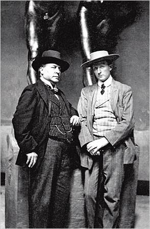 Henry James og Hendrik C. Andersen, 1907. Foto: Museo Hendrick Christian Andersen