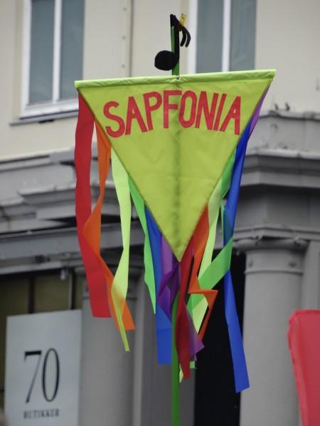Sapfonia sin fane under Bergen Pride 2016. Foto: Stein Wolff Frydenlund