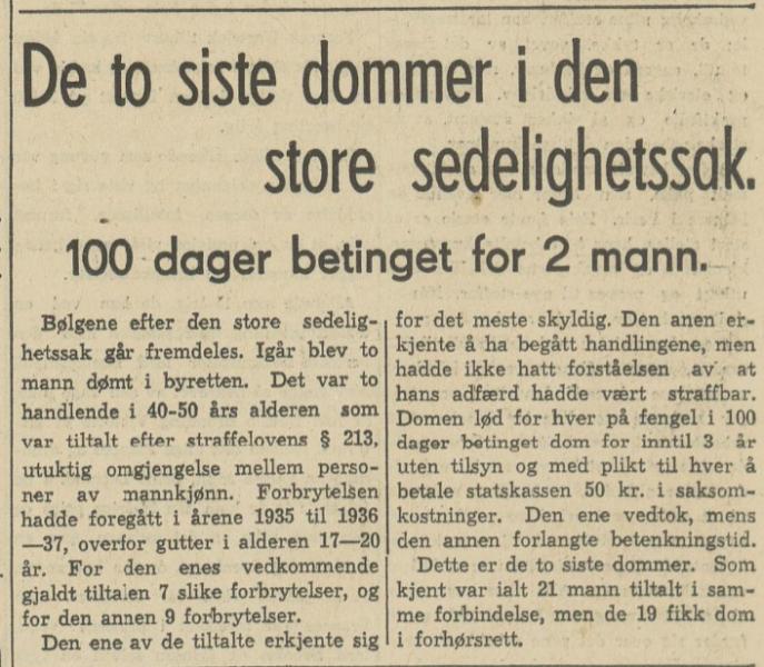 Den store sedelighetssak i Bergen 1938 Bergens Arbeiderblad