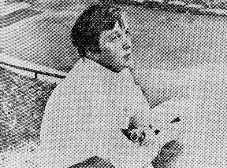 Sissel Castberg. Ukjent dato, ukjent fotograf. Henta frå Lofotposten 7. september 1967.