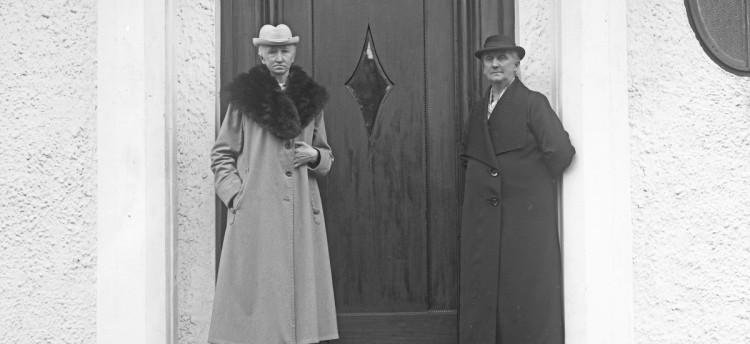 Hanna Brummenæs og Bertha Torgersen. Foto: Haugalandsmuseet