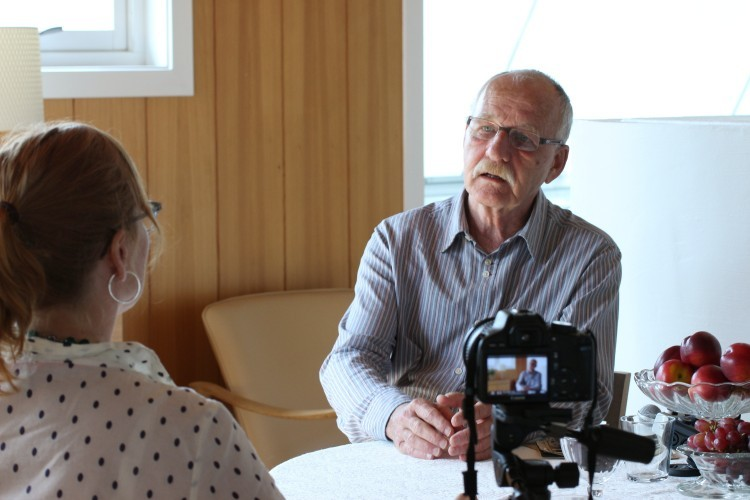 Calle Almedal ble intervjuet av Skeivt arkiv i 2014