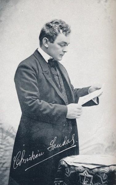 Christian Sandal. Privat bilde, henta frå boka Den Nationale scene, 1901-31.