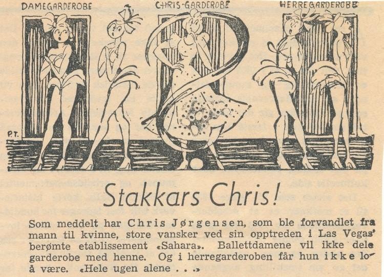 Et klipp fra en norsk avis fra 1953, fra Kim Frieles arkiv.