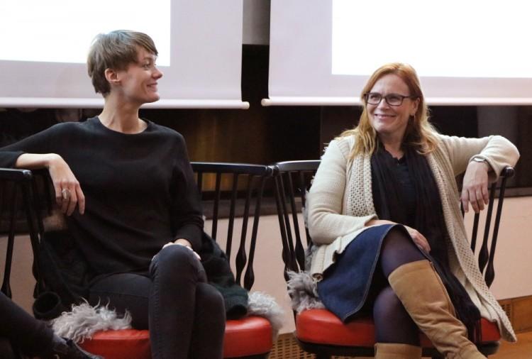 Debatt om skeiv historieformidling, her Anette Trettebergstuen og Tone Hellesund