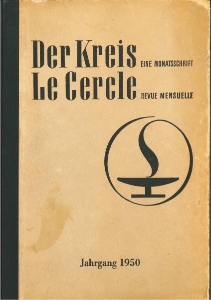 Forside av Der Kreis, årgang 1950. Logoen viser en gresk lampe hvor flammen omslutter lampen som en sirkel.