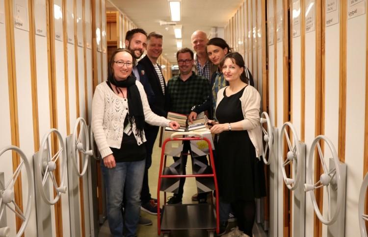Fra venstre: Heidi Rohde Rafto, Birger Berge, Bjørn André Widvey, Runar Jordåen, Jo Hjelle, Simon Mitternacht, Ragnhild Bjelland