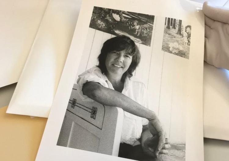 Blikks fotoarkiv under ordning. Gerd Brantenberg fotografert av Arne Walderhaug (udatert).