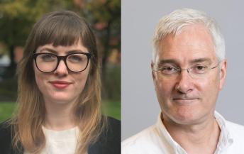 Hannah Gillow-Kloster, ny faglig leder ved Skeivt arkiv, og Professor Norman Anderssen, ny leder for Skeivt arkivs rådgivningsgruppe.