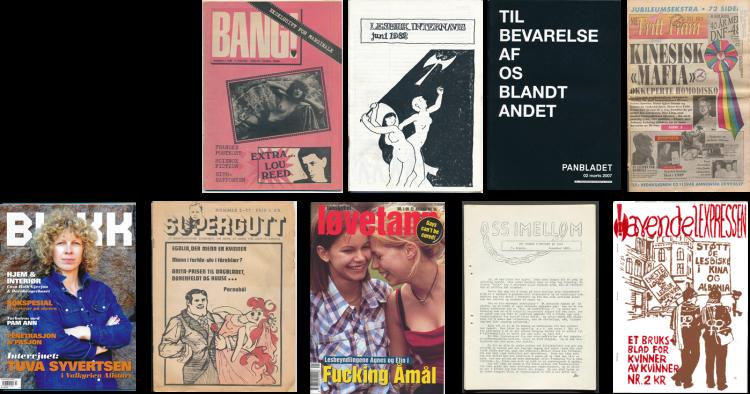 Skeivt arkiv har et rikt arkivmateriale, blant annet et stort utvalg norske og internasjonale skeive tidsskrifter