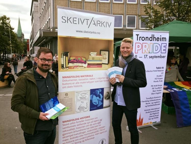 Skeivt arkiv på stand under Trondheim Pride 2017. Foto: Skeivt arkiv