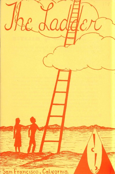 Forside, The Ladder juni 1957. Foto: Skeivt arkiv