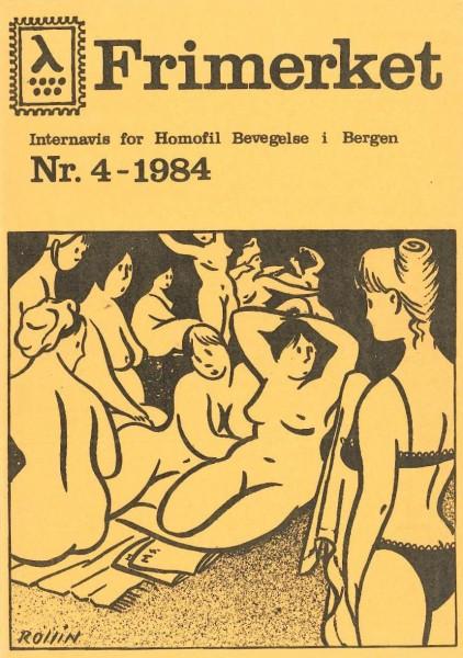 Forsiden på Frimerket nr 4, 1984.