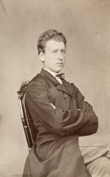 Ebbe Hertzberg, ca. 1880. Photographer: Claus Peter Knudsen. Photography: oslobilder.no / Oslo Museum