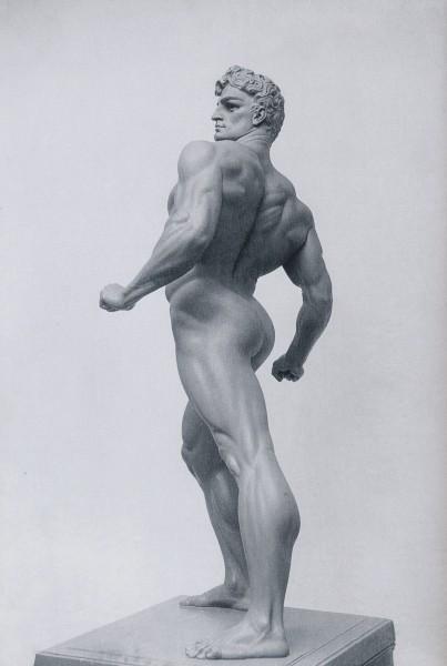 Skulpturen Il Giocatore di Pallone, eller Ballspelaren, som Andersen gjorde ferdig i 1911. Foto: Museo Hendrick Christian Andersen