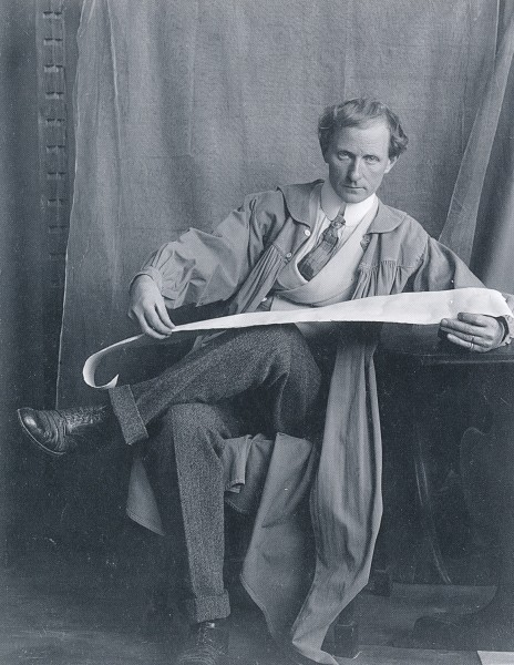Hendrik Christian Andersen i Roma, ca. 1905. Henta frå boka Museo Hendrik Christian Andersen.
