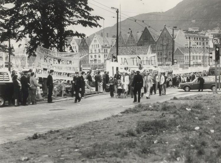 Skeivt arkiv; Homofil bevegelse i Bergen sitt bildearkiv. Foto: Ukjent.