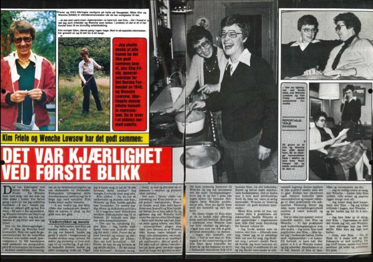 Wenche Lowzow og Kim Friele i Se og Hør, 8. Januar 1981