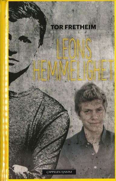 Forside av Tor Fretheim sin bok Leons hemmelighet, 2016.