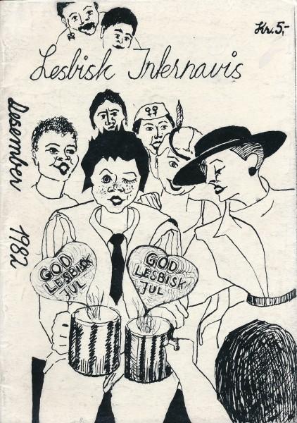 Forside av Lesbisk Interavis, desember 1982