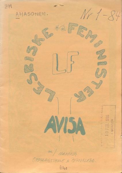 Omslag til LF-avisa 1/84