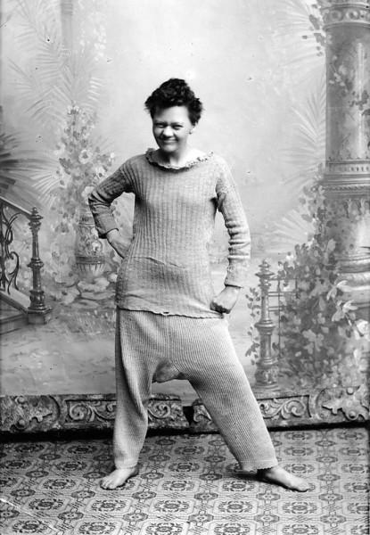 Marie Høeg ca. 1900. Foto: Preus museum.