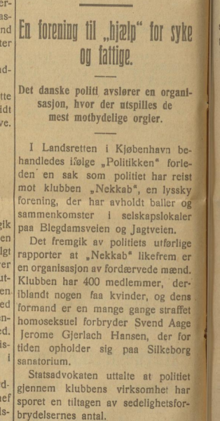 Nekkab København 1ste Mai 30. januar 1924.