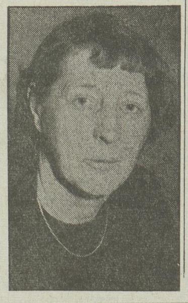 Irmelin Christensen. Faksimile fra nekrolog i Arbeiderbladet, 18.03.1975.