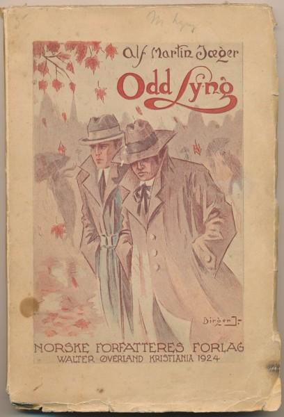 Forsida av romanen Odd Lyng frå 1924.
