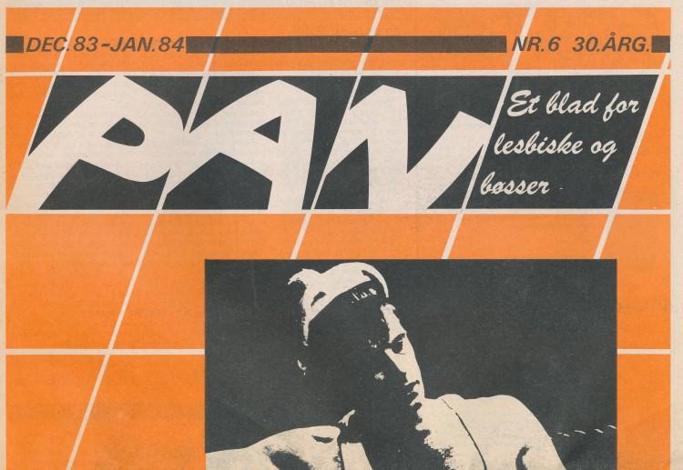 Forside av Pan - et blad for lesbiske og bøsser, nr 6 30. årgang, fra årsskiftet 1983/1984.