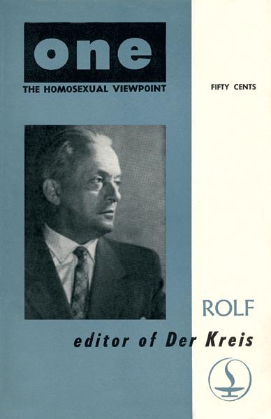 Rolf Karl Meier redaktør for Der Kreis