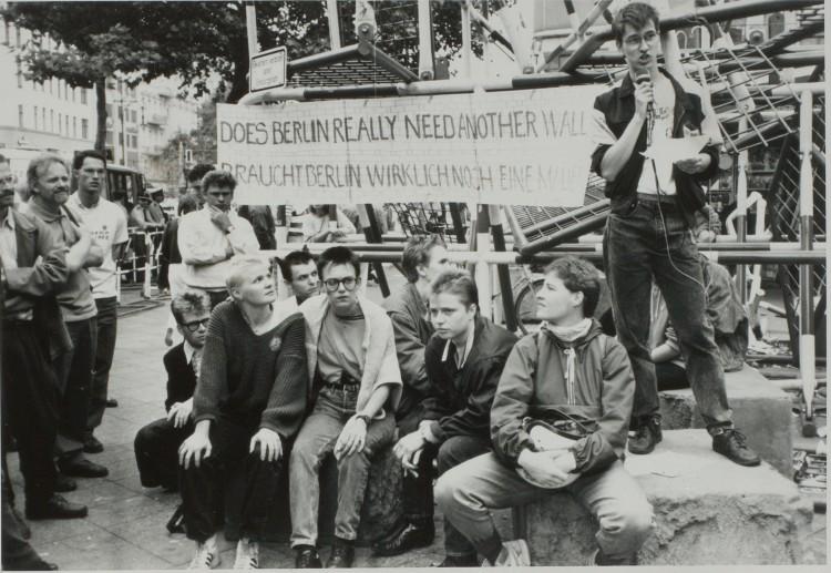 IGLYO-demonstrasjon Berlin august 1988. Foto: Nina R. Didriksen