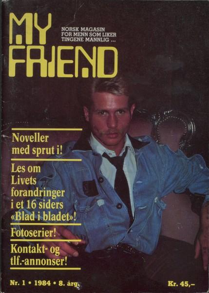 My Friend forside Nr. 1. 1984. 8. årg.