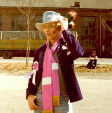 Claus Drecker under et arrangement med Soperliga'n rundt 1979. Foto: Kari Einrem.