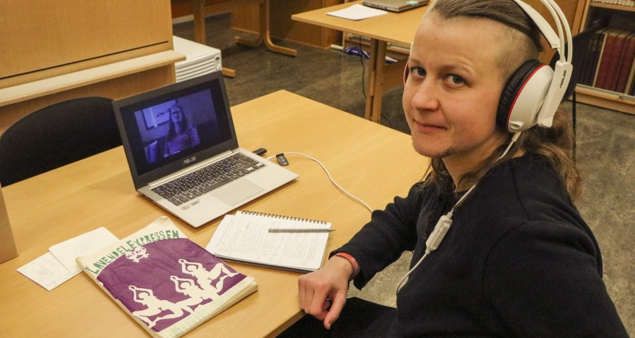 Masterstudent Siv Taule er ein av to som har fått stipend frå Skeivt arkiv. Ho skriv om lesbisk-feministiske tidskrift frå 70- og 80-tallet.