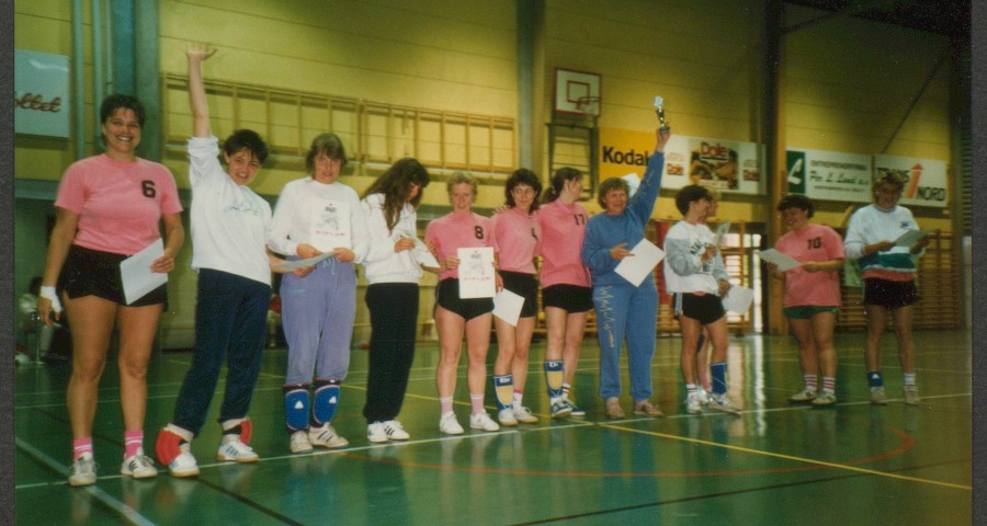 "Bilde fra Siri Kvalheims arkiv. På baksiden står det ""Afrodite vant Euro-Fun-Cup, ca 88/89""."