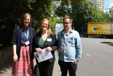 Hannah Gillow Kloster, Tone Hellesund og Runar Jordåen under konferanse i London
