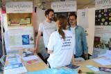 På stand under Oslo pride: Birger Berge, Heidi Rohde Rafto og Runar Jordåen