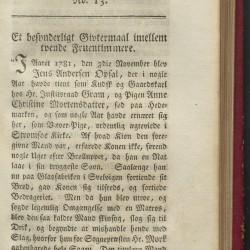 """Faksimile av artikkelen """"Et besynderligt Givtermaal imellem tvende fruentimmere"""" i tidsskriftet Samleren: et ugesskrivt, første bind, 1887."""