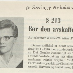 Karen-Christine Kim Friele Skeivt arkiv § 213