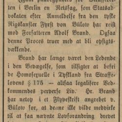 Adolf Brand 1907 Fredrikstads Tilskuer