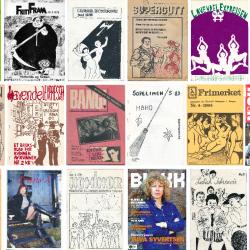 Et utvalg forsider av norske skeive tidsskrifter