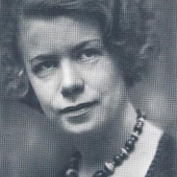 Portrett, Edith Øberg. Fra Aschehoug's Norsk Kvinnelitteraturhistorie, bind 2.